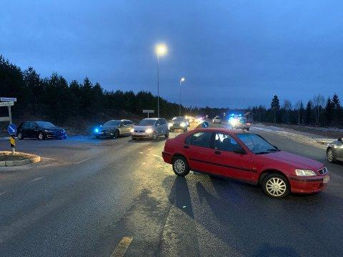 SMALT IGJEN: I januar i år smalt nok en gang to biler  sammen i krysset der Nordbyvegen møter Jessheimvegen.