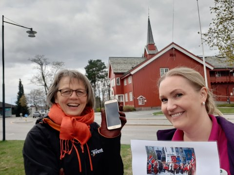 DUGNAD FOR MUSIKKEN: Kari Anne Kjos Ødegaard (t.h.), leder i Jessheim, Hovin og Mogreina Skolekorps er svært takknemlig for rebusløpet Sidsel Skjelmerud og Cockpit Event arrangerer i helgen.