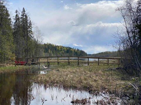 BINDELEDD: Bindeleddet mellom øst og vest, nord i Ullensaker, Tjernstubrua, åpner offisielt til uka, men det er fullt mulig å benytte den allerede nå.