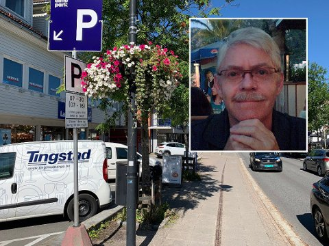 FIKK BOT: Det er ved denne parkeringsplassen i Jessheim at Svein Fagersand ble ilagt en parkeringsbot.