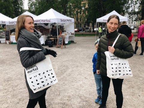 FORNØYDE: Markedssjef Line Uldal (t.v) og daglig leder Randi Ledaal Gjertsen gleder seg til å komme tilbake til Jessheim.