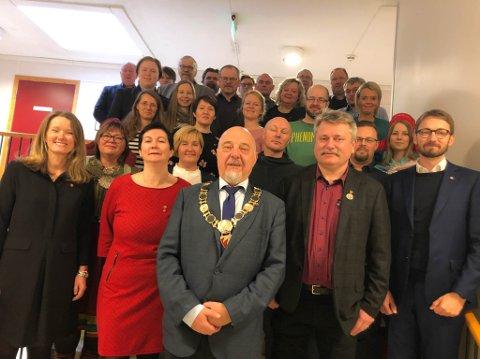 NYTT KOMMUNESTYRE: Her er det nye kommunestyret i Sør-Varanger.