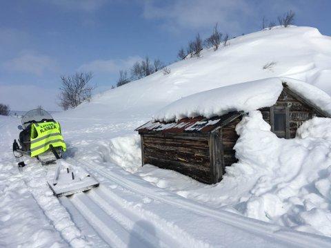 SNØ: Detr er nok snø for hytteeierne og løypekjørerne i Korsdalen.