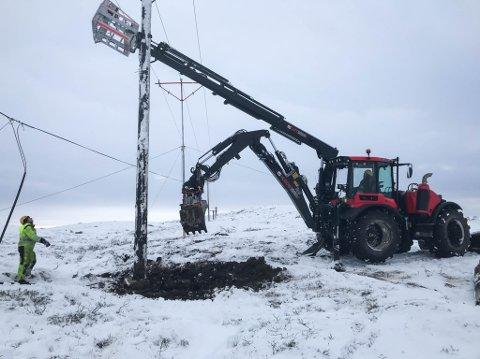 ENESTE: Denne traktoren er den eneste av sitt slag i Nord-Norge.