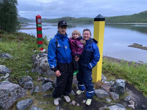 FAMILIEN: Luba Kuzovnikova har tatt med seg familien, mannen Marius Engan Johansen og sønnen Yasha og flyttet fra Kirkenes til Oslo.