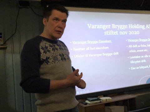 INITIATIV: Pål Haldorsen tok initiativet til Varanger Brygge. Mandag gikk han ut med planene.