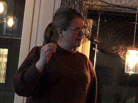 STORE PLANER: Anne Sofie Välitalo i Norway king Crab fortalte om de store planene de har for kongekrabbe og et visningssenter på Bugøynes.