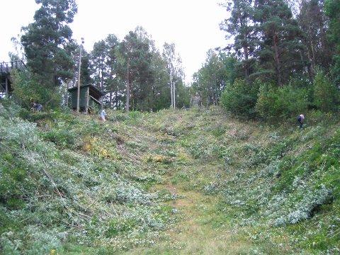 Skal ryddet: Unnarennet og omgivelser i den store hoppbakken i Studsdalen skal ryddes. Arkivfoto