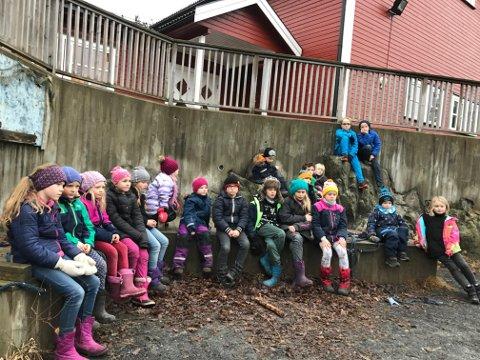 Uteskole for småtrinnet ved Kragerøskjærgården montessoriskole.