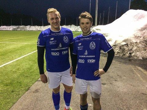 Sindre Stenger Vala og John Ehnebom scoret Sannidals mål mot Gjerpen
