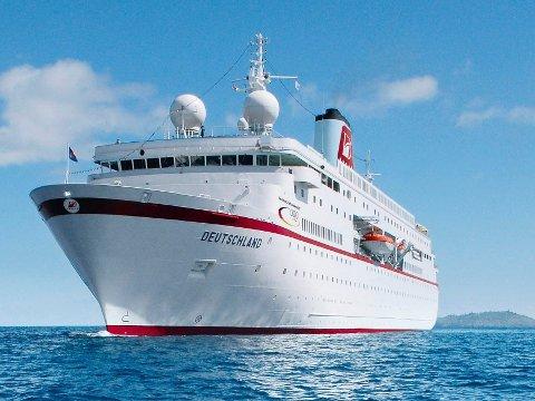"""MS """"Deutschland"""" kommer til Kragerø 23. juli i år, og har dessuten meldt sin ankomst 2. juni neste år."""