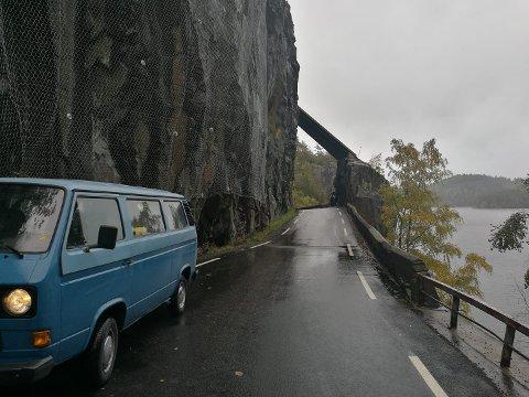 TILBAKE: Taket over veien er tilbake igjen.