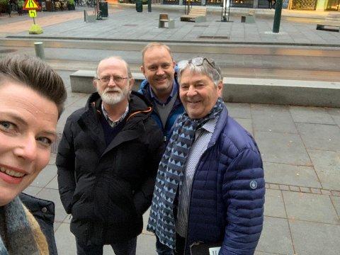 Henriette Fluer Vikre, Kjell Ove Heistad, Grunde W. Knudsen og Tore Ramberg tok turen til Oslo for å møte statsråden. Men departementet lot seg ikke overbevise av delegasjonens argumenter.