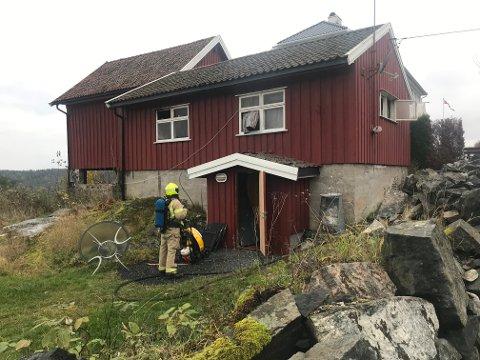 STORE SKADER: Annekset fikk store skader etter brannen.