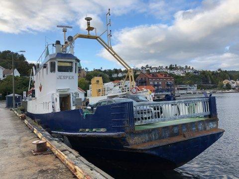 """Kragerø fjordbåtselskap er nå inne i en prosess, der det blir vurdert å bytte ut ferje """"Jesper"""" med et mer miljøvennlig alternativ."""