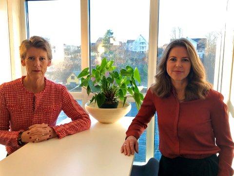 Daglig leder Hanne Gro Haugland og styreleder Yvonne Aasbø.