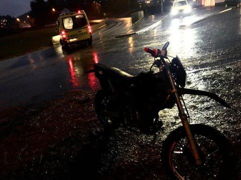 Bildet er fra hendelsen som fant sted i nærheten av Sannidal skole på tampen av fjoråret.