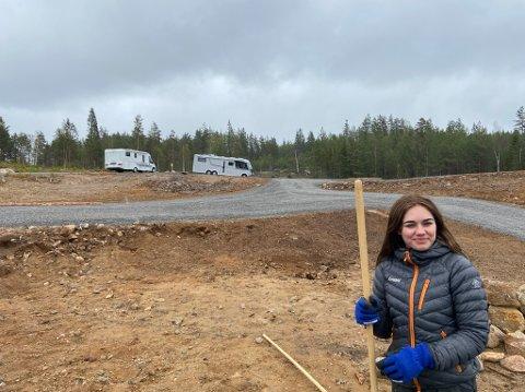 NORAS IDÉ: Nora Juel kom med ideen om selvbetjent bobilparkering.