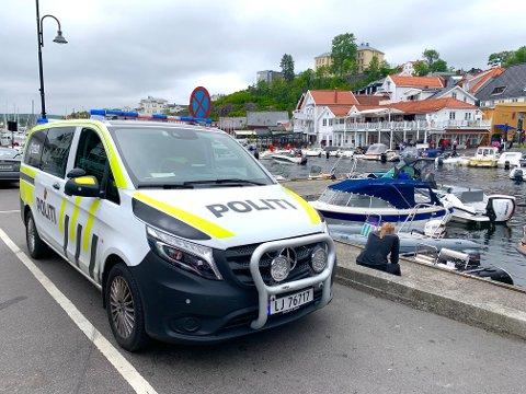 FORTSATT MYE Å GJØRE: Politiet hadde en travel helg i Kragerø.