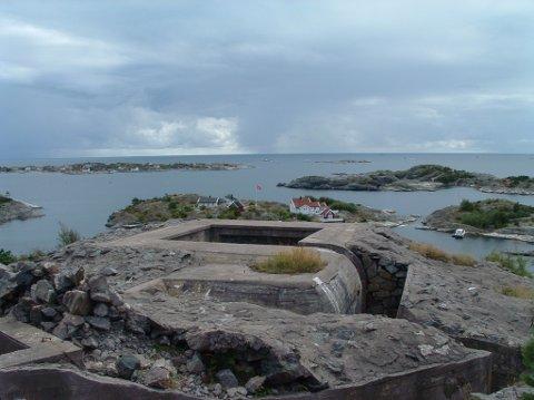 Utsikt fra Krikken kystfort.