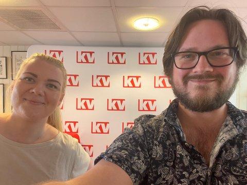 BEREDT: KVs Jeanette Brubakken og Sondre Lindhagen Nilssen følger det viktige møtet torsdag og holder leserne oppdaterte.