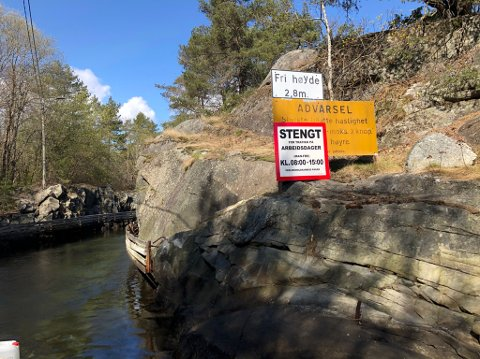 Eidkilkanalen er delvis stengt.