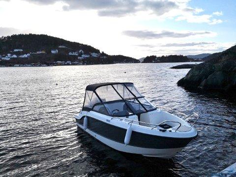 Denne båten ble meldt stjålet i forrige uke. Nå er den funnet igjen.