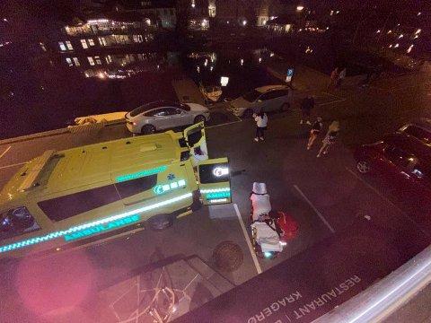 UTRYKNING: Ambulansen var kjapt på stedet.