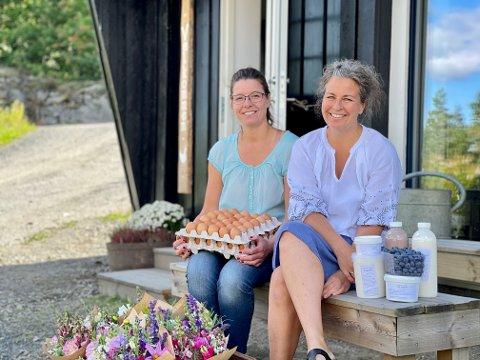 Ragnhild Fuglestveit og Birgithe Levai har endelig åpnet gårdsbutikken på Hagvoll gård.