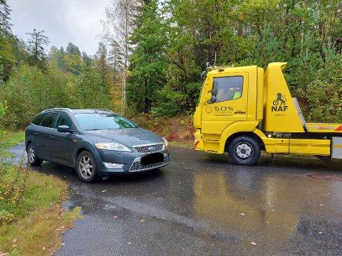 BERGET: Den aktuelle bilen er blitt hentet fra stedet.