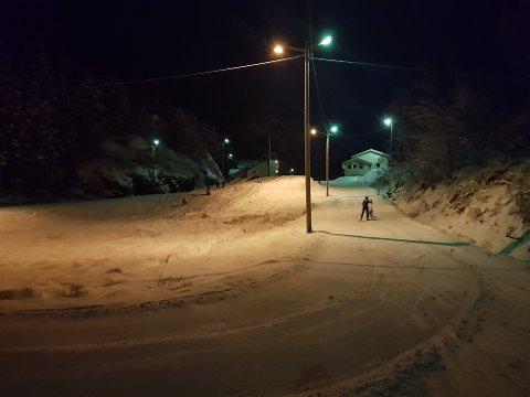 Tveitedalen såg slik ut fredag kveld. (Foto: Julie H. Askeland).