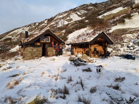 DYRRINDO: Den nye hytta på Dyrrindo vart opna i fjor. Dette bildet er frå vesle julaftan.