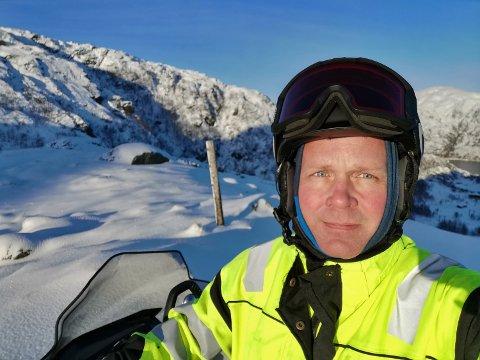 OPTIMIST: Slår klimaforskarane sine spådomar til, blir det truleg slutt på skisenter-drift i Kvinnherad, men dagleg leiar Øystein Svendsen i Fjellhaugen skisenter ser derimot lysare på det: – Eg trur vi får kalde vintrar med masse snø framover, seier han. (Arkivfoto)