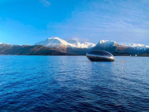 Digitale skisser av Eide Fjordbruk sitt planlagde visningsenter, Salmon Eye.