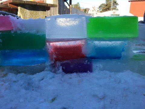 FARGA IS: Tenk at konditorfarga is kan sjå så kul ut! (Foto: Omvikdalen skule).