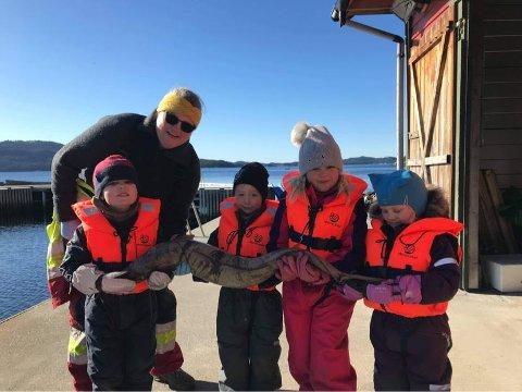 Denne gjengen fekk ei kjekk oppleving på sjøen.