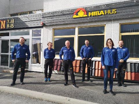 Byggern Teigen fekk den gjeve prisen for femte gong. (F.v.) Iver Andreas Blokkum, Lars Trygve Tveit, Nils Olav Støle, Thomas Viken, Therese Haugland Bonhus og Guttorm Røssland