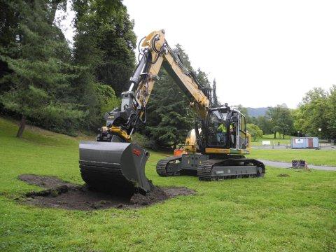 Selv om det finnes flere elektriske gravemaskiner, er det ingen som er bygget på samme måte som nyervervelsen til Svein Boasson AS.