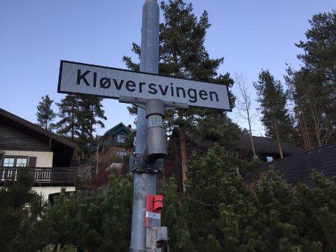 BOLIGFELT: Politiet fikk lørdag morgen melding om funn av en død mann i Kløversvingen på Madsebakken, like utenfor Kongsberg sentrum.