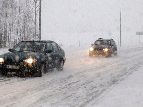 SNØVÆR: Det er meldt om kraftig snøvær i Kongsberg og Numedal det neste døgnet.