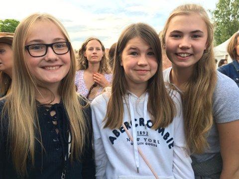 Oda Hovden Breivik (11) fra Kongsberg hadde besøk av kusinene Johanne (12) og Martine Engene Breivik fra Nesbyen.