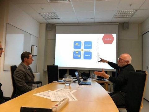 Kritisk gjennomgang av vinnerteamets strategi ved Arnt Farbu på Høyskolen.