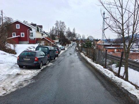 Mye parkering i Glitregata om dagen.