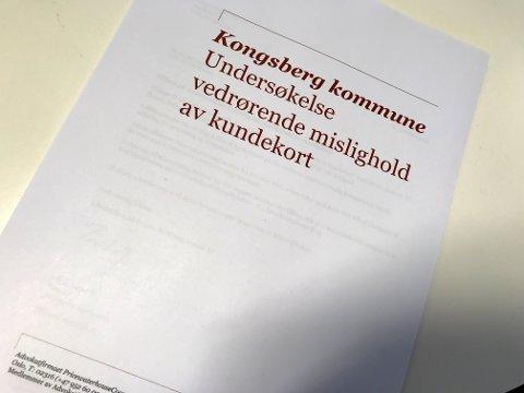 FIKK OPPDRAGET: Kongsberg kommune ga PwC oppdraget med å undersøke KKE.