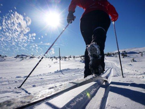 Blefjell  20160223. Nydelig vinterferie vær i fjellet på Blefjell i Buskerud tirsdag. Godt skiføre i nyprepreparerte løyper. Foto: Erik Johansen / NTB scanpix