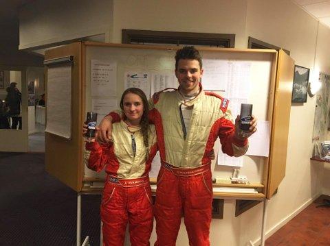 Anita (17) og Jonas (17) på 3. plass: De to tremeningene kom på hver sin tredje plass i runde tre av NM i Rally