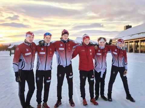 Fra venstre: Sebastian Stolen Antonsen, Oddmund Lie Pettersen, Geir Blon Breivik, Andreas Hallingstad, Tobias Stolen Antonsen.  Ikke til stede: Bror Eskil Heiret, Kristian Lindh Aandahl, Morten moe og Sølve Drage.