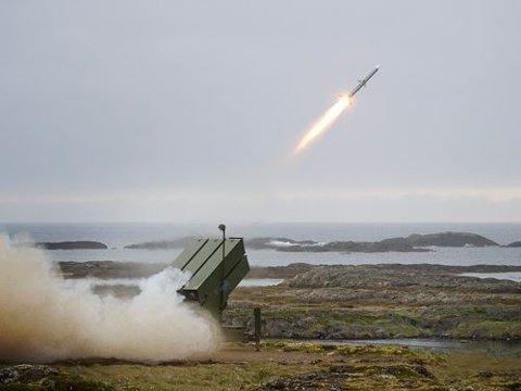 SKAL BRUKES I ØVELSE: Luftvernsystemet NASAMS 2 er utviklet av Kongsberg Defence & Aerospace. Bildet er tatt for to år siden.