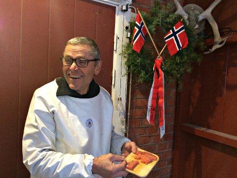FEIRING: Olav Hov var ikke på Røros da han ble kåret til norgesmester, men det ble likevel en liten feiring hjemme i Rollag.