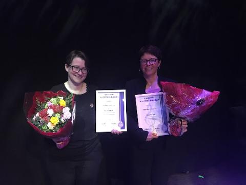 Æresmedlemskap og velfortjente blomster til Gro Mesna Andersen og Eldrid Ninive Andersen